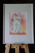 tableau animaux aquarelle animaux chat : Aquarelle Chaton