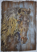tableau animaux aube cormost cheval expression : Magnificence