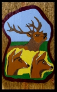 "tableau animaux cerf foret brame chant : (An.2010 )""Chant d'Amour"""