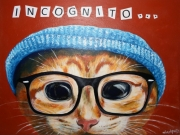 tableau animaux chat animal compagnie atypique : Incognito