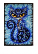 tableau animaux chat bleu : chat