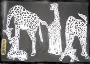 tableau animaux : girafes