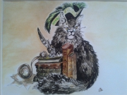 tableau animaux imaginaire chat : CHATINTELLO