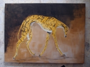 tableau animaux levrier chien finesse galgo : Song