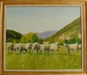 tableau animaux moutons : Moutons Chauvac Drôme