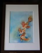 Tableau peinture carpe ko galerie creation for Carpe chinoise prix