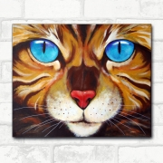 tableau animaux regard bengale felin yeux : Chat Bengal