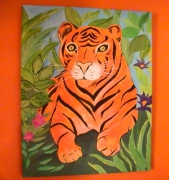 tableau animaux tigre animaux sauvage : tigre