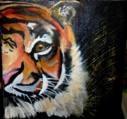 tableau animaux tigre nature griffe : Tigre