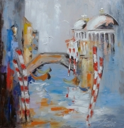 tableau architecture architecture : painting*Venise1*oil on canvas 70x70 cm