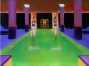 tableau architecture bain lumiere piscine spa : Bain emeraude