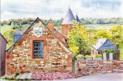 tableau architecture correze limousin village coullonges : 2017-13 - Coullonges la Rouge