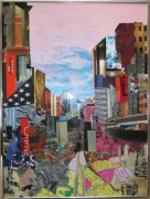 tableau architecture new york architecture collage art papier : NEW YORK CARO