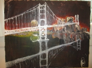 tableau architecture san francisco pont golden gate bri pont etats unis : golden gate