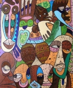 tableau autres nigerian art colors ekefrey contemporary art : WHO HAS IT