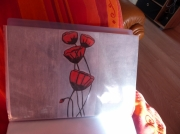 tableau : coquelicot