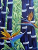 Tableau d'art - Abstract Bamboo and Birds of paradise 04