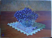 tableau fruits : Nature morte aux raisin