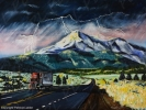 Tableau - Lightning on the Mount Shasta in California