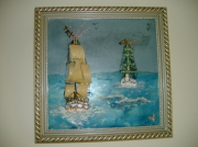 tableau marine navires pirates : navires pirates