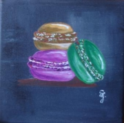 tableau nature morte macarons patisserie gourmand : Macarons