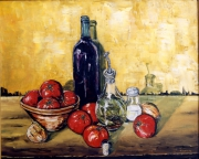 tableau nature morte var st raphael nature morte le tian : Le tian