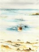 tableau paysages barque mer : barque
