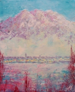 tableau paysages cueno montagne neige anna maillard : CUENO