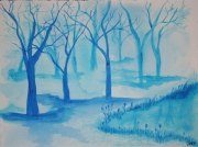 "tableau paysages foret lany acrylique moderne : ""Silva"""