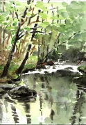 tableau paysages limousin riviere : L'isle