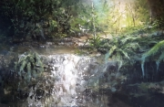 tableau paysages nature riviere jungle foret panoramique : Ruissellement