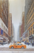 tableau paysages new york snow america urban landscape : NY#1 W 35th Street (Canyon)