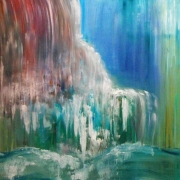 tableau paysages peinture huile art abstrait artiste : SONG OF WATER