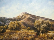 tableau paysages provence oliviers pagnol : Garlaban