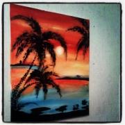 Tableau peinture paysages - Tableau acrylique facile ...