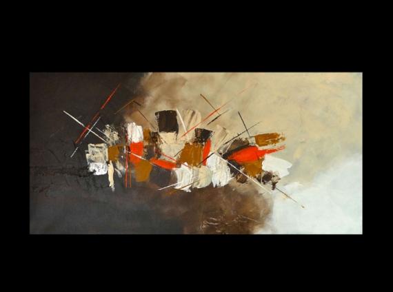 tableau peinture abstrait beige peinture orange evasion. Black Bedroom Furniture Sets. Home Design Ideas
