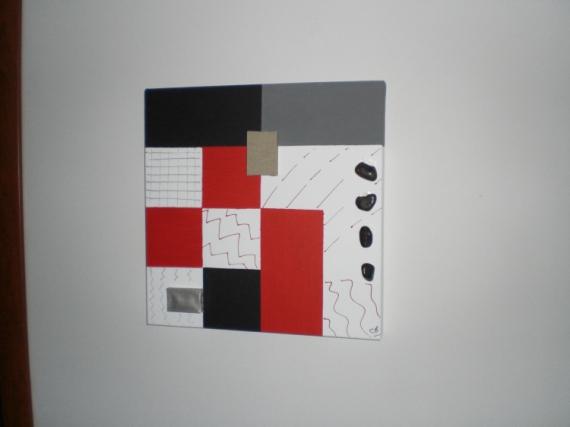 Tableau Peinture Abstrait Carr Variation