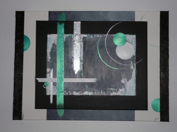 tableau moderne gris