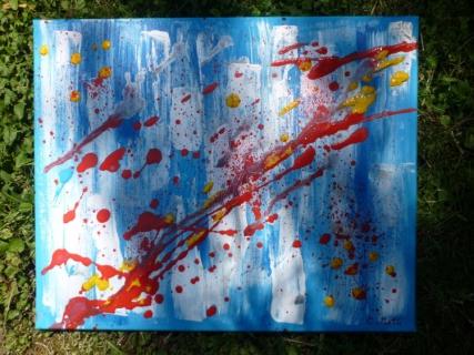 Tableau peinture abstrait moderne contemporain angoisse for Tableau moderne contemporain