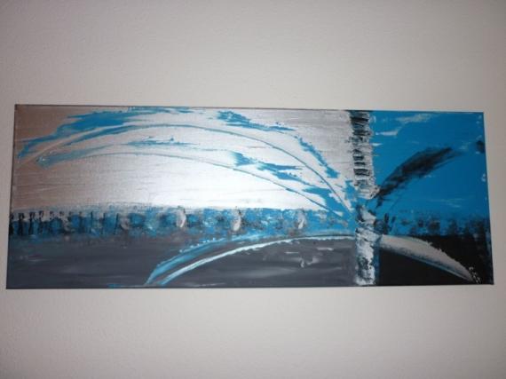Tableau peinture abstrait moderne contemporain artifice - Tableau peinture acrylique moderne ...