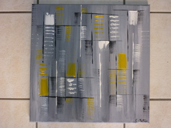 Tableau peinture abstrait moderne contemporain equilibre - Tableau peinture acrylique moderne ...