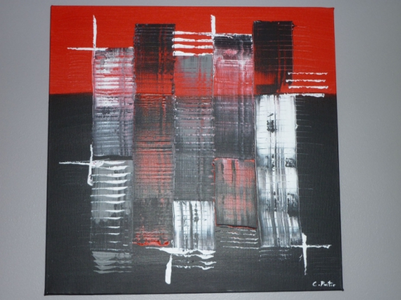 tableau peinture abstrait moderne contemporain rouge colre. Black Bedroom Furniture Sets. Home Design Ideas