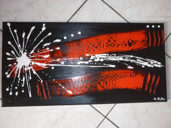 tableau peinture abstrait moderne contemporain rouge rouge passion vendu. Black Bedroom Furniture Sets. Home Design Ideas