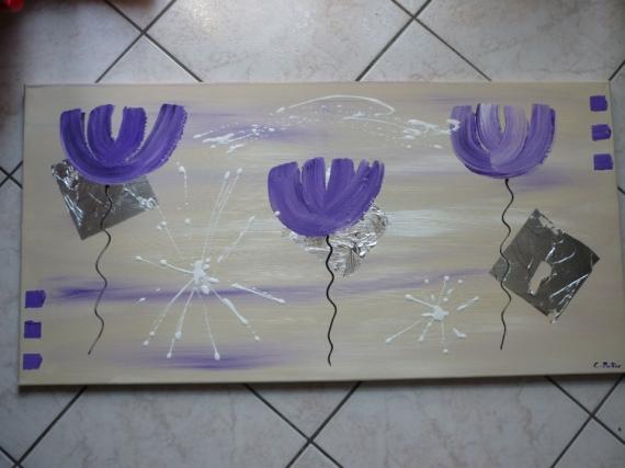tableau peinture abstrait moderne contemporain violet happy time. Black Bedroom Furniture Sets. Home Design Ideas
