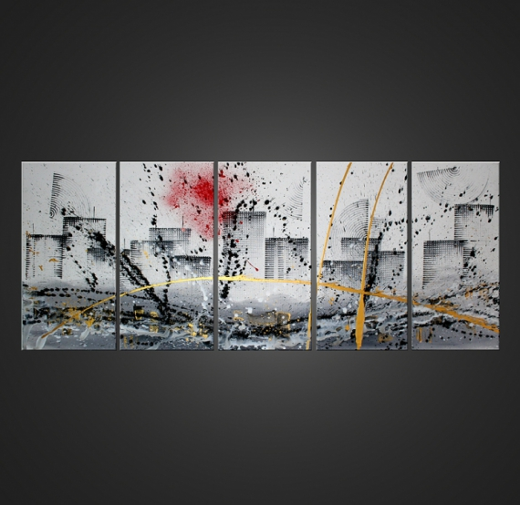 Tableau peinture huile abstrait moderne galerie creation jongose ninja - Tableau peinture moderne design ...