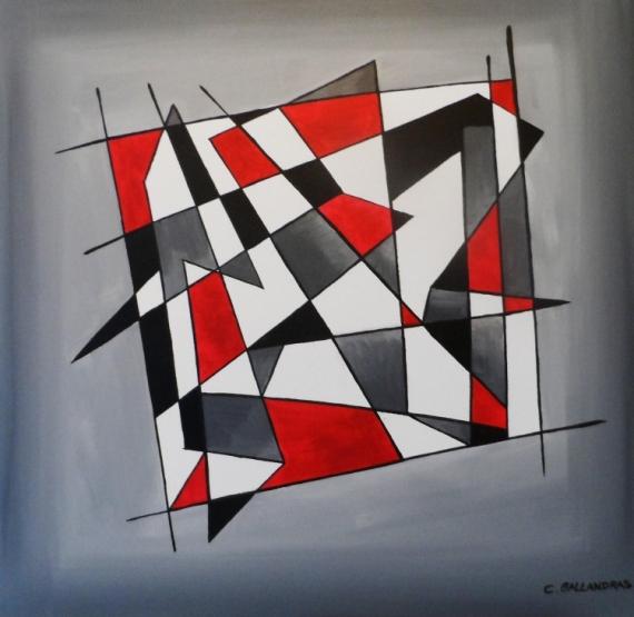 Célèbre Tableau Peinture Géométrique - Galerie-Creation BJ78