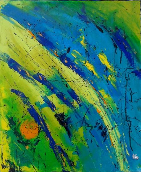 TABLEAU PEINTURE - La terre est bleue comme une orange