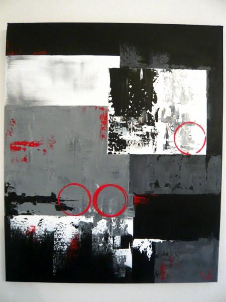 tableau noir blanc gris tableau abstrait gris noir blanc. Black Bedroom Furniture Sets. Home Design Ideas