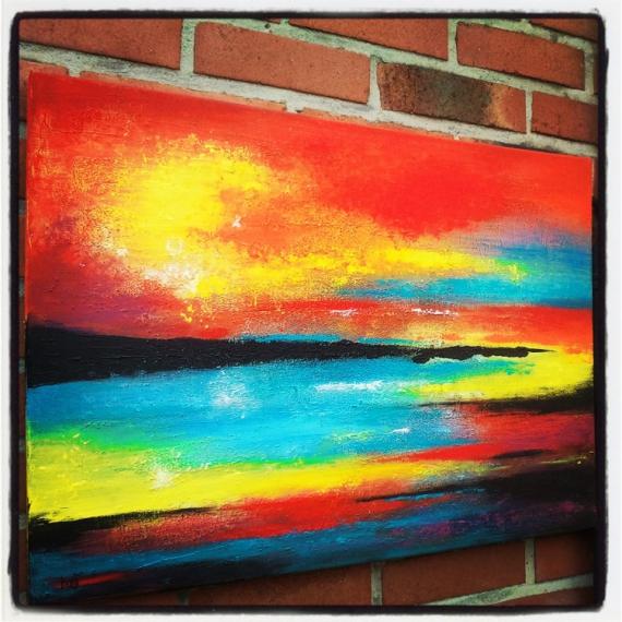 Peinture abstraite paysage for Photo de tableau abstrait