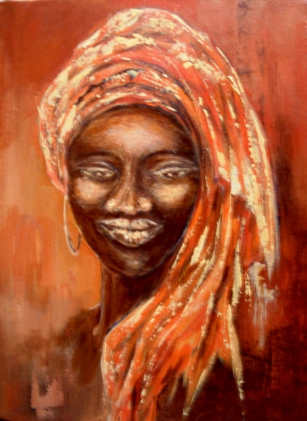 tableau peinture afrique femme africaine visage afrique 4. Black Bedroom Furniture Sets. Home Design Ideas